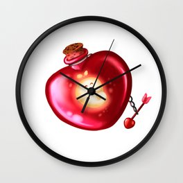 Bottled spirit; love Wall Clock