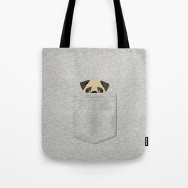 Pocket Pug Tote Bag