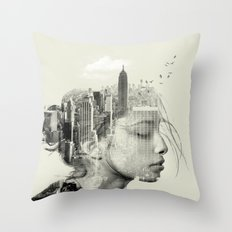 New York City reflection Throw Pillow