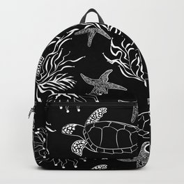 Underwater world, turtle Backpack
