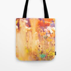 I am Alice. poppy flowers photograph Tote Bag