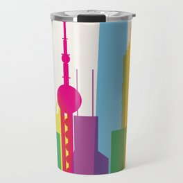 Shapes of Shanghai. Accurate to scale Travel Mug