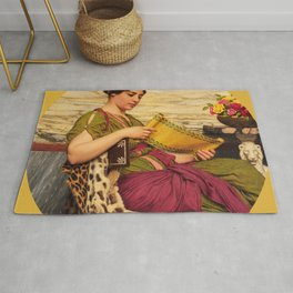 "John William Godward ""An Edition de Luxe"" Rug"