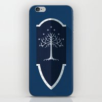 gondor iPhone & iPod Skins featuring Shield of Gondor by DWatson