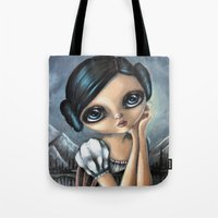 leia Tote Bags featuring Leia by ZELYSS