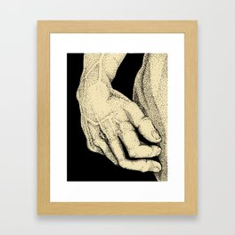 David's Hand in ink Framed Art Print