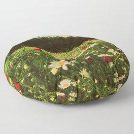 Poppies in Pilling Floor Pillow