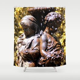 Cherub Fountain Shower Curtain