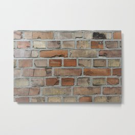 Vintage red brick wall texture Metal Print