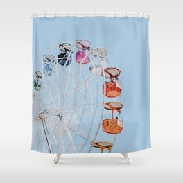 ferris wheel ii Shower Curtain