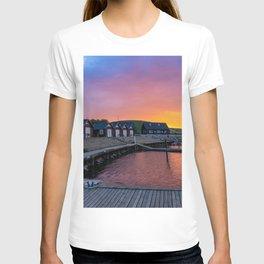 Sunset at Ejerslev Havn T-shirt
