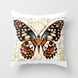 Butterfy Wild Throw Pillow