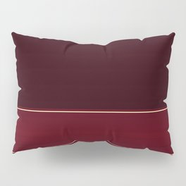 Rich Burgundy Ombre with Gold Stripes Pillow Sham