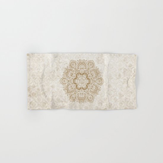 Mandala Temptation in Cream Hand & Bath Towel