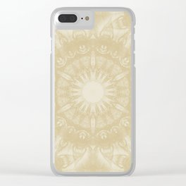 Peaceful kaleidoscope in beige Clear iPhone Case