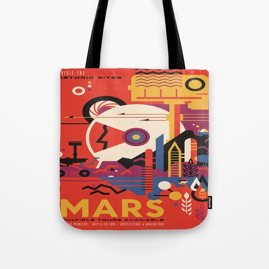 Mars Tour : Space Galaxy Tote Bag