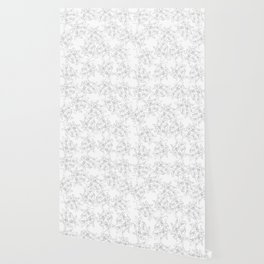 black and white line art flowers Wallpaper