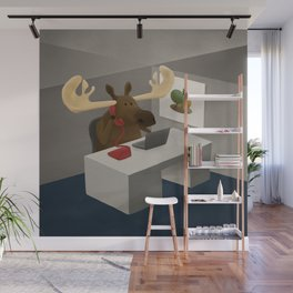 Maurice, the moose who wanted to work in an office Wall Mural