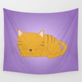 Orange Tabby Kitten Wall Tapestry