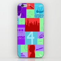 divergent iPhone & iPod Skins featuring Divergent Collage by Anthony M. Sennett