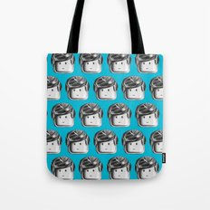 Minifigure Pattern – Blue Tote Bag