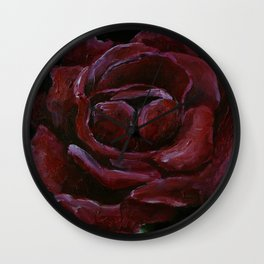 Art work, oil painting, red rose, flower, nature, plants,  gothic, beauti Wall Clock