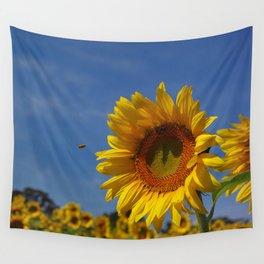 Sunny Summer Sunflower Wall Tapestry