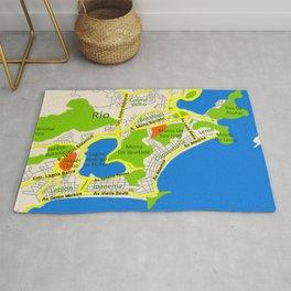 RIO map design - Brasil Rug