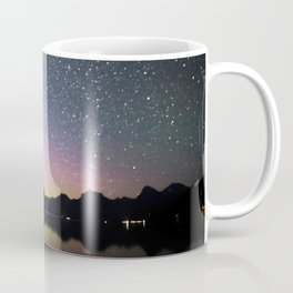 northern lights over lake mcdonald Coffee Mug