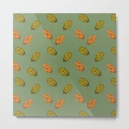 Autumn seed pattern Metal Print