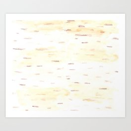 Birch Bark Watercolor Art Print