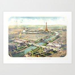 Paris World Fair 1900 Art Print