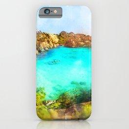 Elba Island, Tuscany - Watercolor iPhone Case