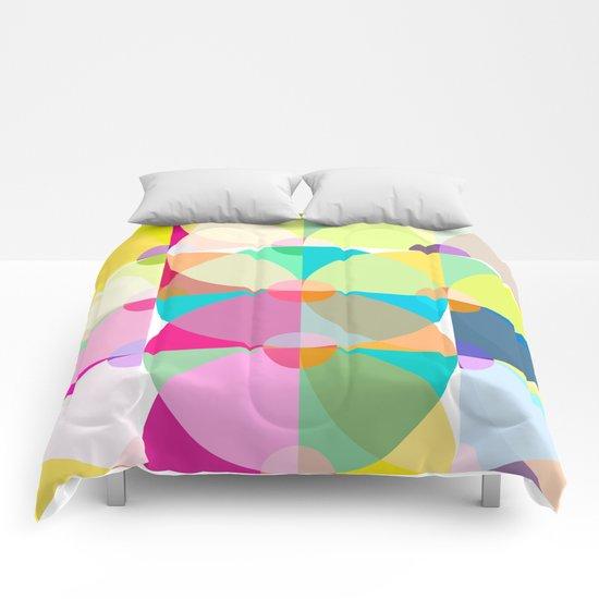 pastel circles Comforters