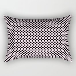 Ballet Slipper and Black Polka Dots Rectangular Pillow