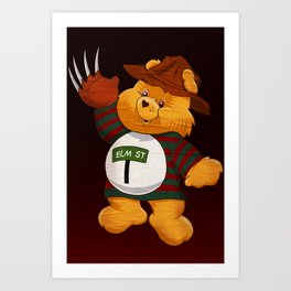 Freddy Scare Bear Art Print