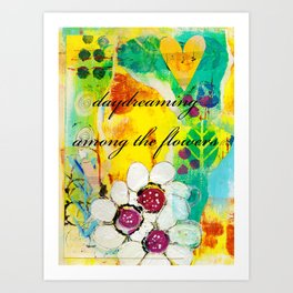 Daydreaming Among the Flowers Art Print