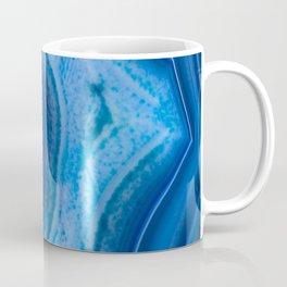 Deep Blue Lagoon Agate Coffee Mug