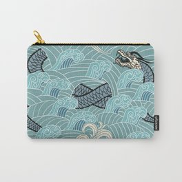 Pattern of water with dragons Carry-All Pouch