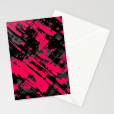 Hot pink and black digital art G75 Stationery Cards