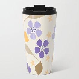 Abstract Violets Travel Mug
