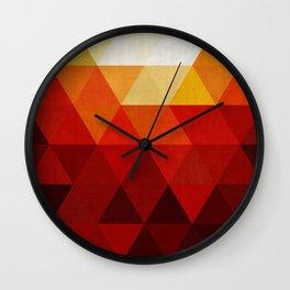 Modern art of triangles VII Wall Clock