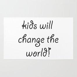 Kids will Change The World Rug