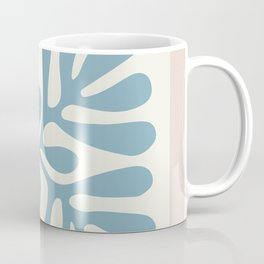 Henri Matisse abstract cut out flower lavender minimal contemporary print Coffee Mug
