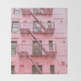 Pink Soho NYC Throw Blanket