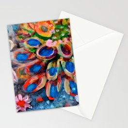 Higher than the Sky floral landscape painting by Scott Richard Stationery Cards