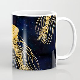 Galaxy Jellyfish Pattern Coffee Mug