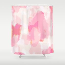 Adonia - blush pink abstract art Shower Curtain