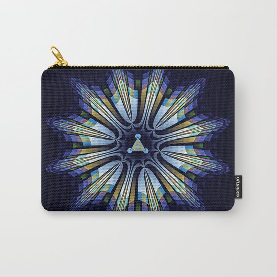 Retro design star in blue, gold, green and pink Carry-All Pouch