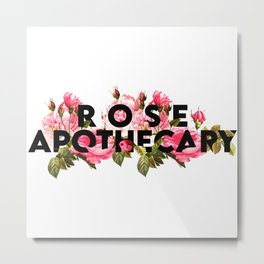 Rose Apothecary. Rosebud motel.Schitt Ew, David. Creek Love that journey for me. Roses design gift Metal Print